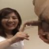 【若妻】センズリ鑑賞 上向き乳首の超美巨乳を見せつけチンポを咥え、顔を近付け射精を求める美人妻