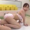 【篠田ゆう】番台の若妻が銭湯で水着姿でボディー洗い チンポ咥えてパイズリして素股でドピュっとお尻に射精