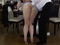 パンティーが透けたムチムチ着衣尻の美人妻をレイプ
